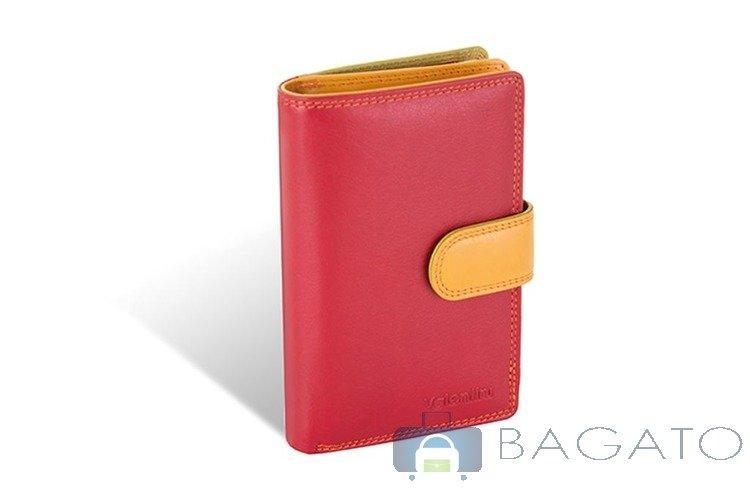 fcd3a5b251b87 Portfel pionowy damski Valentini Colors 01-123-042 czerwony ...