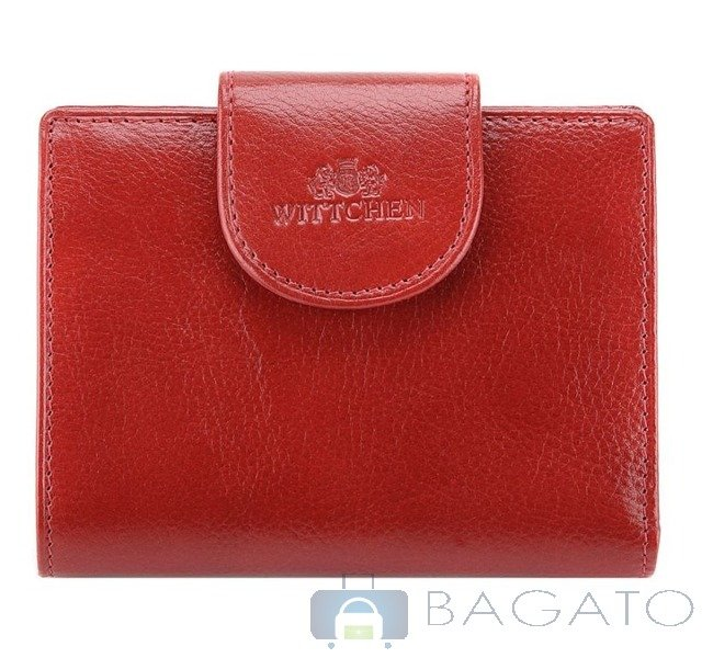 bf12a88e65152 Portfel portmonetka damska Wittchen ITALY 21-1-362 czerwony ...