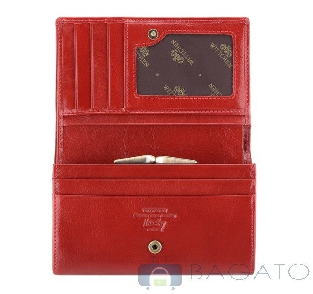 58c88fe2e5d50 Portfel portmonetka damska Wittchen Italy 21-1-081 czerwony ...
