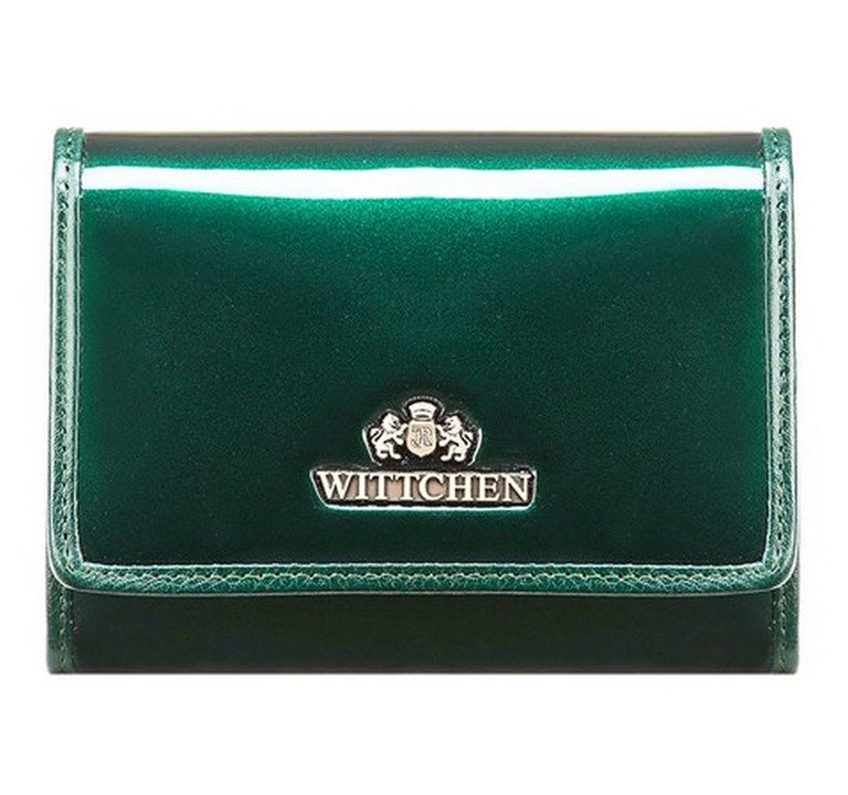 8c408da5f2580 Portfel portmonetka damska Wittchen VERONA 25-1-070 ciemny zielony ...