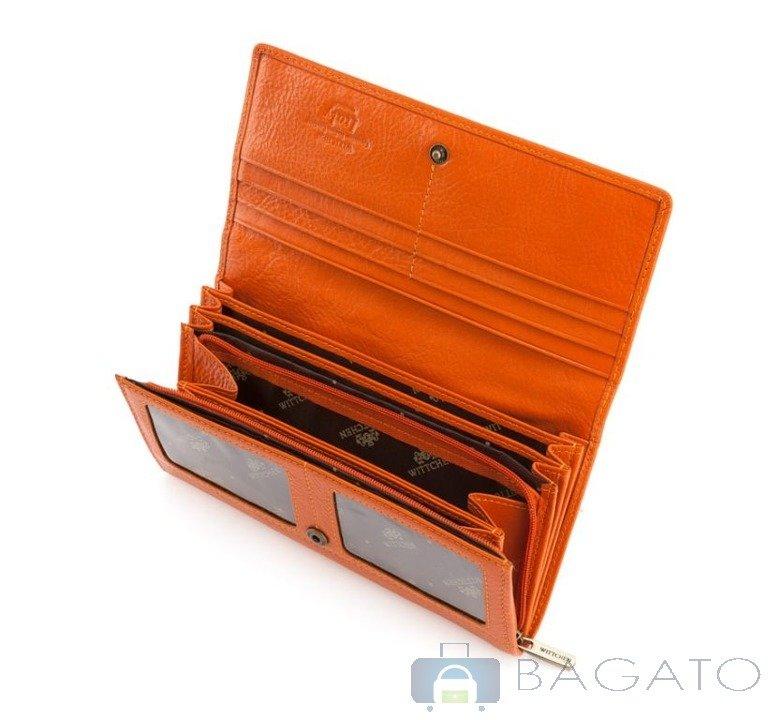0c7cfadec7a51 Portfel poziomy damska Wittchen Italy 21-1-052 pomarańczowy ...