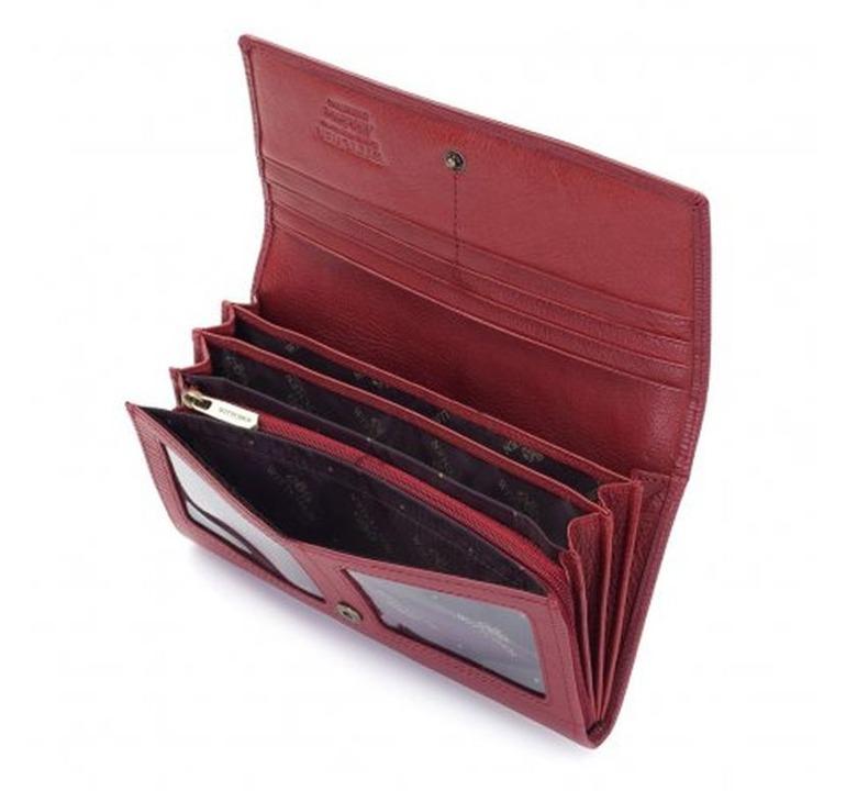 32dc5c5a8ac24 Portfel poziomy damski Wittchen Modena 03-1-052 czerwony ...