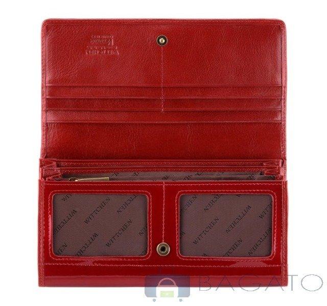 3366d4bfbe03b Portfel poziomy damski Wittchen VERONA 25-1-052 czerwony ...
