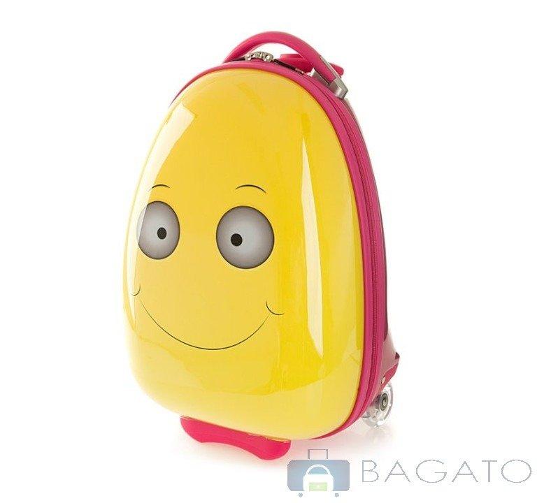 415ffa89b2168 Walizka mała WITTCHEN Travel Kids 2koła 17l 56-3K-003-O żółty ...