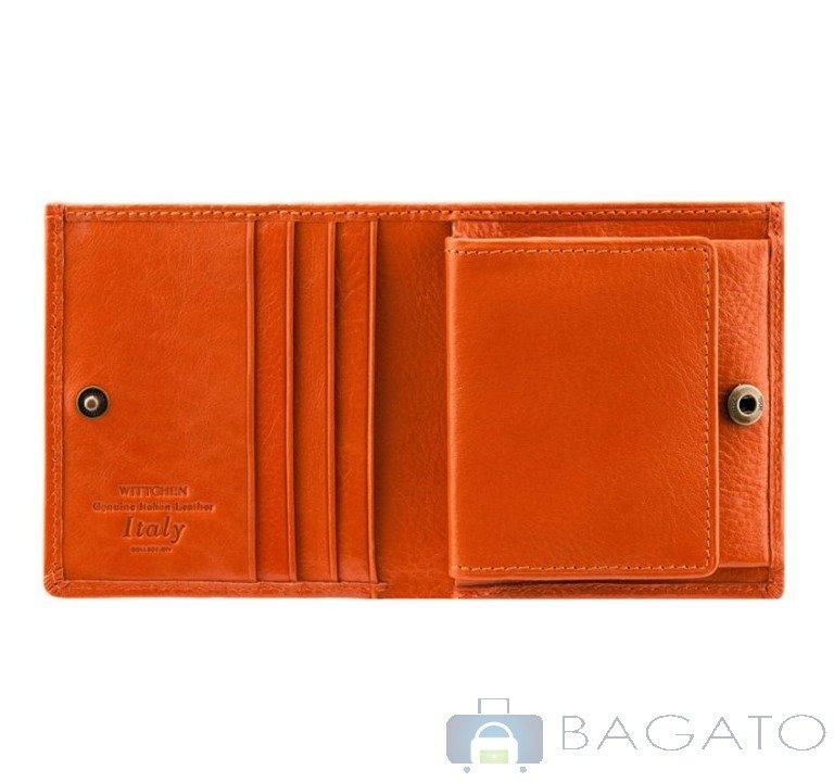2ed015f5aeb68 Portfel poziomy unisex Wittchen ITALY 21-1-065 pomarańczowy ...